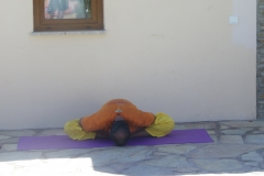 restrained angle pose